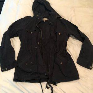 Black utility jacket (removable hood)